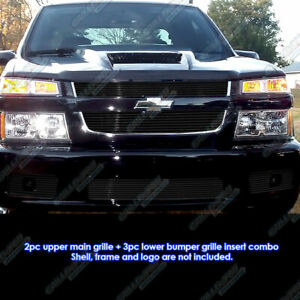 Fits 2004 2010 Chevy Colorado Xtreme Black Billet Grille Grill Combo Insert