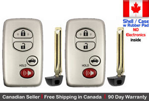 2 New Replacement Keyless Key Fob For Toyota Proximity Remote Case Shell Only