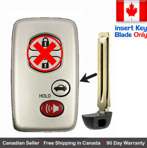 1 New Replacement Keyless Key Fob For Toyota Proximity Remote Key Blade Only