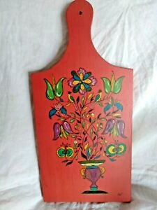 Vintage Cutting Board Pennsylvania Dutch Amish Painted Lancaster Pa