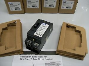 Eaton Circuit Breaker Ccv2200x Type Cc 2 Pole 200 Amp 120 240v new In Box