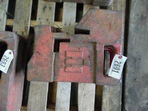 International Harvester Tractor 75 Lb Suitcase Weight Part 383392r2 Tag 2691