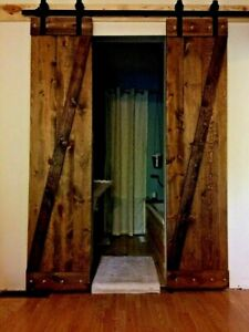 2 Barn Doors Plus All Hardware Pkg Deal Rustic Antique Vintage Farmhouse Style