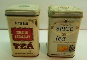 Vintage Tea Tins. John Wagner  & Sons Advertising Tins