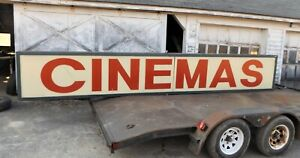 Lighted Outdoor Building Business Sign Cinemas Sign Coukd Be Anything 18 Long