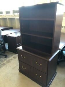 2dr Lateral File Cabinet W Open Hutch By National Office Furniture W Lock