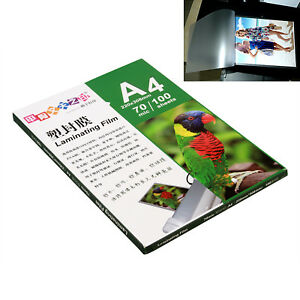 100 Sheet 220x305mm A4 Thermal Laminating Film Pouch Glossy Protect Photo Paper