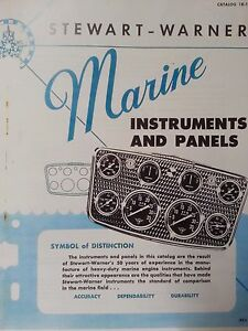 1950s Stewart Warner Marine And Hot Rod Instruments And Panels Pictorial Catalog
