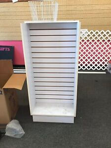 White Small Slat Wall Display Shelving Used Local Pickup Only