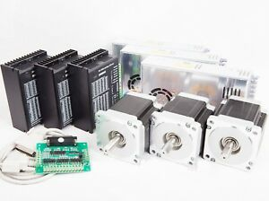 3axis Nema34 Stepper Motor Single 878oz 2a Driver Controller Cnc Router Kit