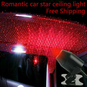 Us Fast Shipping Usb Car Atmosphere Lamp Interior Ambient Star Light Hot Sale