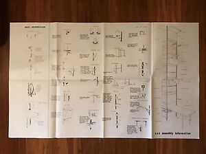 George Nelson Css Assembly Instructions Blueprint Size Herman Miller Eames Era