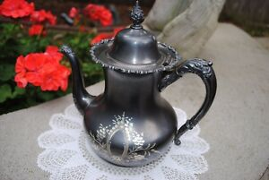 Lovely Antique Engraved Teapot Derby Silver Co 1800 S