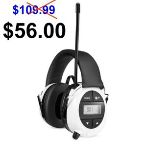 Safety Works Swx00260 Am Fm Mp3 Bluetooth Digital Hearing Protection Ear Muffs