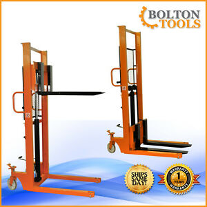Bolton Tools Foot Operated Pallet Stacker 1100 Lb Qsd100c 16 Free Shipping