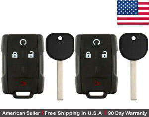 2x New Replacement Keyless Key Fob Remote For Chevy Gmc Gm M3n 32337100 B116 Pt