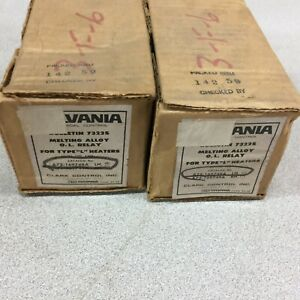 New In Box Lot Of 2 Sylvania 100amp Melting Alloy O l Relay A73 169748a