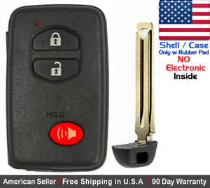 1x New Replacement Keyless Key Fob For Toyota Proximity Remote Shell Case Only