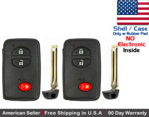2x New Replacement Keyless Key Fob For Toyota Proximity Remote Shell Case Only
