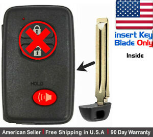 1x New Replacement Keyless Key Fob For Toyota Proximity Remote Key Blade Only
