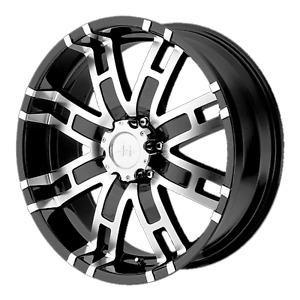 1 New 17x8 Et 0 Helo He835 Black Wheel 5x139 70 5x5 5
