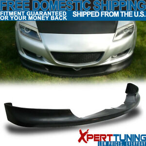 Fits 04 05 06 07 08 Mazda Rx8 Type Sport Urethane Front Bumper Lip Spoiler Chin