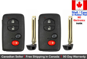 2x New Replacement Keyless Keyfob For Toyota Proximity Remote Shell Case Only