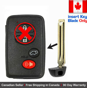 1x New Replacement Keyless Keyfob For Toyota Proximity Remote Uncut Key Blade