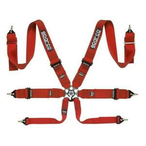 Sparco Competition Belt 6pt 6 Point P 3 Pull Up Safety Harness Red