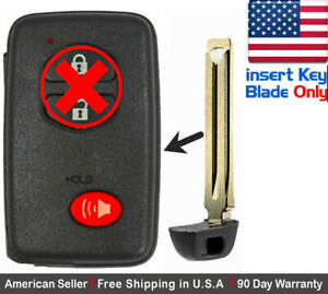 1 New Replacement Keyless Key Fob For Toyota Proximity Remote Only Blade