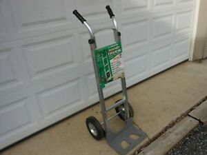 Aluminum Hand Truck 500 Pound Capacity With Solid Rubber Wheels