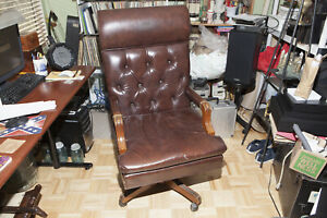 Executive Office Chair Big And Tall Brown Leather