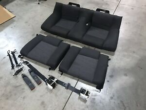 2005 To 2009 Mustang Oem Black Cloth Rear Seats And Belts Used