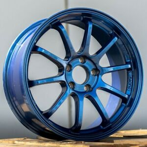 4 set Bavar Lightweight Track Staggered Wheels Bvr03 18x8 5 9 5 Gloss Blue