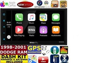 98 99 00 01 Dodge Ram Apple Car Play Android Auto Bluetooth Touchscreen Package