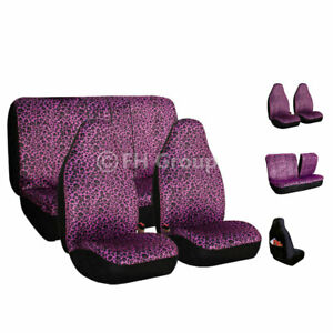 Car Seat Covers Purple Leopard Velour Top Quality For Car Truck Suv