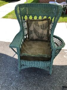 Antique Haywood Wakefield Wicker Chair