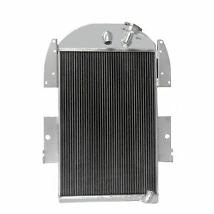 4 Row Core Aluminum Radiator Fits 1935 1936 Chevy Pickup Truck L6 V8 Conversion