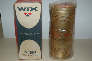 Vintage Wix Oil Filter Cw 161mp Nosr Autocar Caterpillar Bay City Shovel