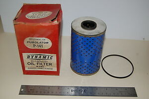 Vintage Dynamic Oil Filter Replaces Puro P 141 For 1958 Up Chevrolet V 8
