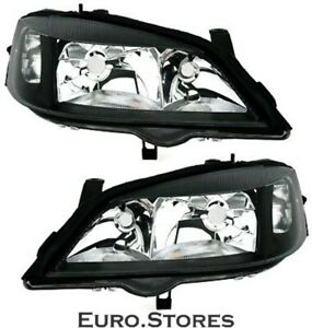 Headlamp Set In Black For Opel Astra G 3 98 5 04 H7 Hb3 For Electr Lwr Tyc