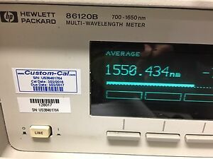 New Laser Calibrated In 2016 Hp agilent 86120b Optical Multi Wavelength Meter