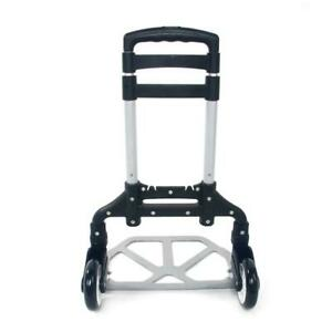 Aluminium Cart Folding Dolly Push Truck Hand Collapsible Trolley Luggage Us Ship