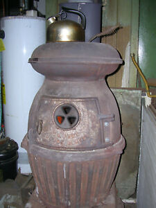 Us Army Cannon Heater 18 Wood Coal Potbelly Stove Cast Iron Solid Always Inside
