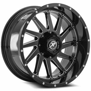22 Xf Off Road Wheels Xf 216 Gloss Black Milled With Rbp Tires Package