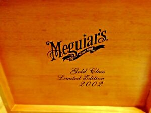 Meguiar S Gold Class Ltd 2002 Wooden Cigar Dvd Box