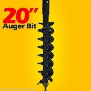 20 Skid Steer Auger Bit Mcmillen Hdc for Difficult Digging 2 Hex Drive 1200