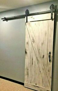White Washed Barn Door Plus Hardware Kit Rustic Antique Vintage Farmhouse Style