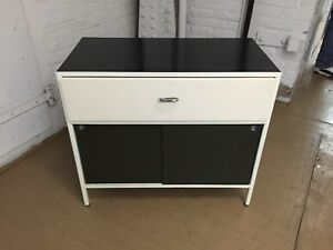 Mid Century George Nelson For Herman Miller Steelframe Side Table