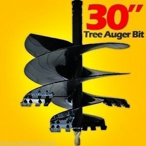 30 Tree Auger Bit For Skid Steer Augers Uses 2 Hex Drive Usa ship Same Day